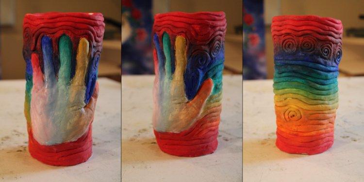 Rainbow Coil Pot