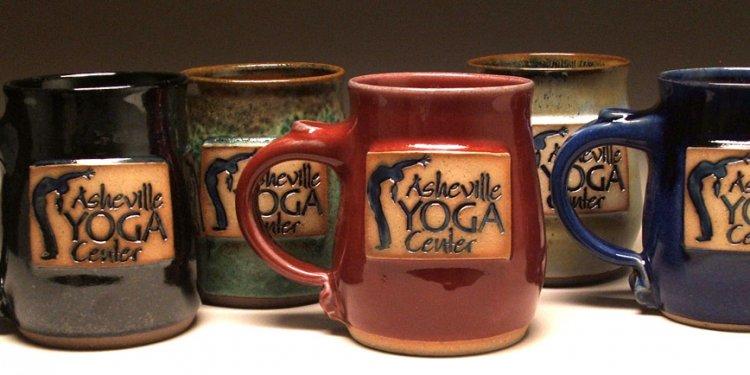 Asheville yoga mugs