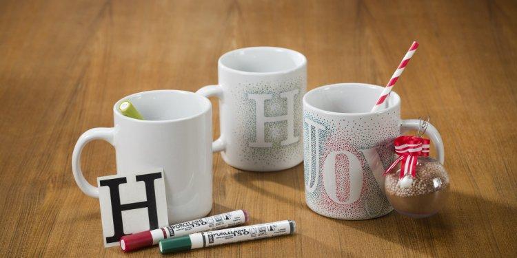 Ceramic coffee mug pens