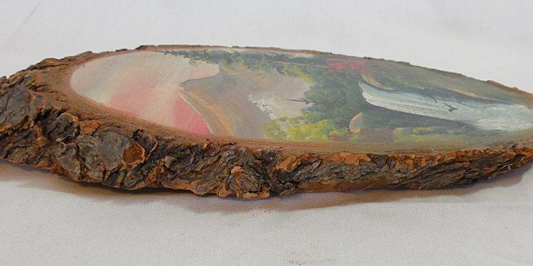 Log Slab Art Painting by