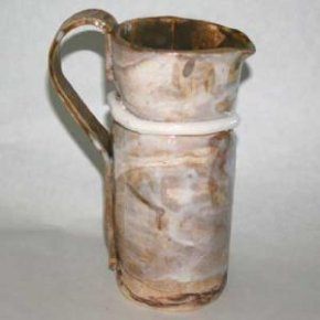 A pottery pitcher made using the slab building method. - Photo © 2009 Beth E Peterson